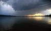 raumschiff über radolfzell (joachim.d.) Tags: zellersee radolfzell hegau bodensee wetter gewitter wolken sonnenuntergang