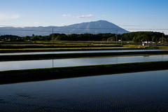 Paddy field (kat-taka) Tags: ã¬ãã water country mountain farm farmland paddy blue
