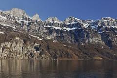 Lake Walen (Thomas Mülchi) Tags: cantonofstgallen switzerland 2017 churfirsten appenzellalps lake lakewalen walenstadt churfirstenmountainrange sky bluesky blue quarten sanktgallen ch