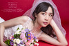 Bride (Hugo Chao Photography) Tags: bride makeup flowers red wedding dress hairstyle weddingdress white retouching portrait fashion hugochaophotography puerta 播鵝鐳達