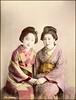 Beautiful Girls (ookami_dou) Tags: vintage japan handcolored albumen geisha 芸者 portrait kimono