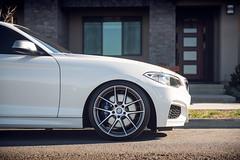 BMW M240i on Beyern Ritz Gunmetal Brushed Face - rotary forged wheels - 9 (tswalloywheels1) Tags: lowered hr springs white bmw m240i m235i 2series f22 beyern ritz rotary forged flow form monoblock staggered concave split 5spoke aftermarket wheel wheels rim rims alloy alloys
