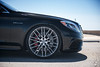 Mercedes-Benz S63 AMG on 22in Mandrus Masche wheels - 14 (tswalloywheels1) Tags: lowered air suspension black mercedes benz w222 sclass s63 amg sedan aftermarket concave staggered mesh wheel wheels rim rims alloy alloys mandrus masche 22in 22x9 22x105