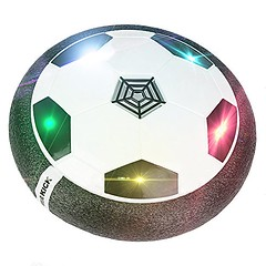 Hover Ball, TLOVII Air Power Soccer Ball Kids Toys Boys Girls Sport Training Football, Indoor or Outdoor Disk with Foam Bumpers and Colorful LED lights (saidkam29) Tags: ball boys bumpers colorful disk foam football girls hover indoor kids lights outdoor power soccer sport tlovii toys training