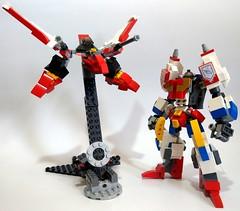 Transformer Victory Saber X Lego Nexo Knights Lance batter suit (c_s417) Tags: lego moc nexo knights batter suit victory leo eagle star saber transformer lance 70366 mech