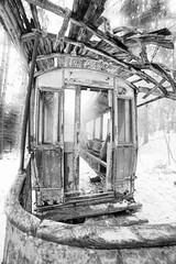 ghost train from 1917 (sami kuosmanen) Tags: suomi europe exposure expression emotion eerie scary scandinavia scenery tram photography luonto light finland forest funny sky taivas tree talvi winter white abandoned