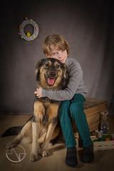 Kai & Aruna (brooneq) Tags: easter dog kid boy portrait noise photography fotograf gdańsk trójmiasto canon 7d tamron 1750
