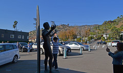 Shadows & Light - Surfer Statue (BudCat14/Ross) Tags: malibu california shadows light photographers statues pacificcoasthighway parkinglots