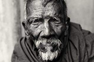 India, old man in Kolkata