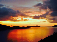 A beautiful sunset in St. Thomas.