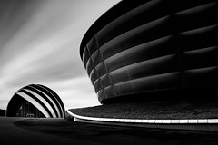 Wee Shell (TS446Photo) Tags: architecture monochrome hydro event arena shell lines curves nikkor north