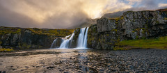 kirkjufellsfoss (Mike Ver Sprill - Milky Way Mike) Tags: kirkjufellsfoss iceland icelandic waterfall water falls travel landscape nature panorama sunset beautiful clouds fog outdoors michael ver sprill mike versprill