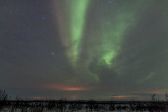 Streaming (Joost10000) Tags: aurora borealis auroraborealis lapland lights northern northernlights mysterious magnetic sky night clouds tree trees snow ice winter finland suomi utsjoki canon canon5d eos beauty wild wilderness arctic europe