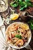 Skillet Shrimp Scamp (alaridesign) Tags: skillet shrimp scampi pasta with lemon basil