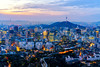 Sunrise scene of Seoul downtown city skyline (MongkolChuewong) Tags: 2018 aerial architecture asia asian attraction building business cable car city cityscape destination district downtown famous financial fortress hiking hill inwangsan inwansan korea korean landmark landscape lotte metropolis mountain n namsan night office panorama park place point seoul sky skyline south sunrise sunset tower town travel trekking urban view wall