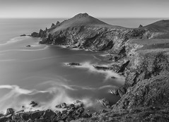 Highlights over Rocks, The Rumps (Mick Blakey) Tags: therumps beach blackwhite cliffs clouds coast coastpath coastsurf coastal coastline contrast cornish cornwall dramatic monochrome rocks rocky rugged sea seascape shore shoreline surf surreal tidal waves