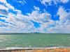 View of Boston skyline from Deer Island (brooksbos) Tags: boston brooks brooksbos city geotagged light massachusetts newengland nature sky skyline water harbor islands bostonharborislands deerisland clouds casioexzr1300 casio