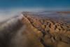Morning flight above Wahiba Sands (nicointhebus (nicolas monnot)) Tags: oman wahiba sands sand dune dunes desert aerial birdview drone dji mavic mavicpro flight sunrie nature landscape from above clouds travel tourism mist misty panorama