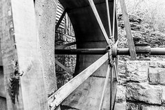 Mill Wheel (JCTopping) Tags: mill 6d gristmill river millwheel waterwheel westvirginia canon blackandwhite 24mm wheel danese unitedstates us