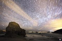 Praia de Ponzos (Ferrol) (albertoleiras) Tags: ferrol praiasantacomba playa circumpolar vialactea milkyway startrails nocturna galicia acoruña canon1740f4l canon6d ponzos