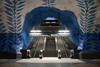T-Centralen (Korf-Adri) Tags: stockholm suede sweden bleu art white decor peinture urban metro subway escalator stairs architecture light ville city underground canon sigma