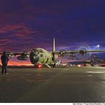 C-130 sob céu roxo thumbnail