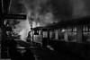 Highland Railway Night (Articdriver) Tags: strathspeyrailway strathspey highlands scotland boatofgarten ivatt 2mt night steam railway trains britishrailways aviemore station platform wet rain 46512