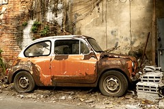 Fiat (Sarah Marston) Tags: car fiat bangkok asia taladnoi scrap abandoned rusty uberex rust sony ilce6300 march 2018