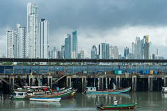 Panama (blurMEDIA Stock) Tags: pacific america boat capital centralamerica city cityscape cruise culture destination development fisherman fishing fishingboats food hot industrial industry local ocean office ominous pacificocean panama panamacity port sea seafood seaport skyscraper southamerica storm stormy sustainable tourism tower tropical tropics urban vacation