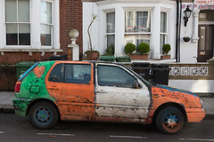 Engolfed (SReed99342) Tags: volkswagen golf smiley wild crazy car auto paint westhampstead london uk england