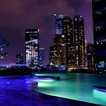 Infinity pool and the city skyline at dusk.. thumbnail