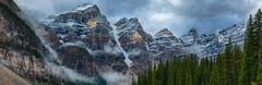 Light and snow in the mountains (RichHaig) Tags: banffnationalpark landscape snow nikonnikkor1424mmf28 gitzotripod nationalpark mountains alberta canada richhaig nikond800 morainelake clouds anationalpark