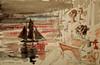 R.L.Stevenson par Hugo Pratt. (Gilles Daligand) Tags: exposition hugopratt muséedesconfluences dessin drawing aquarellé robertlouisstevenson leica q