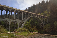 Cape Creek Bridge (buffdawgus) Tags: lanecounty hecetahead canonef24105mmf4lisusm heceta bridge capecreek landscape topazsw lightroom6 westcoast capecreekbridge highway101 oregon canon5dmarkiii pacificcoast