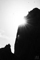 Haystack Rock (Joshua Johnston Photography) Tags: sonya7ii pacificnorthwest pnw joshuajohnston landscapephotography nature oregon oregoncoast cannonbeach haystackrock pacificocean blackandwhite bnw sonyfe70300mmf4556goss