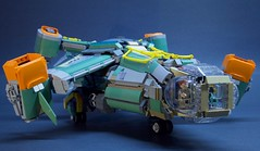 "J-338 ""Big Bird"" Heavy Dropship (S_P Brick Design House) Tags: lego mocs bricks afol space legospace"
