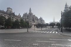 Solitude II (RuiFAFerreira) Tags: empty public places architecture squares avenues porto portugal blended buildings canon conceptual exterior