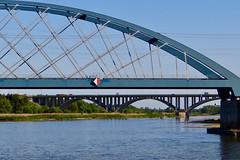 Zwei Brücken (bernstrid) Tags: ffo frankfurto brandenburg oder fluss wasser brücke eisenbahnbrücke autobahnbrücke explorer explore