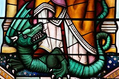 St Magnus the Martyr (richardr) Tags: stmagnusthemartyr church squaremile cityoflondon london stainedglass glass window dragon lee laurielee 20thcentury twentiethcentury england english britain british greatbritain uk unitedkingdom europe european old history heritage historic myth mythology