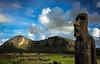 The Travelling Moai (Rodney Harvey) Tags: easter island travelling moai rapa nui statues ancient rano raraku mysterious sunrise volcano horses chile remote isolation monument ancestors