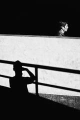 Other Side Of The Wall (Meljoe San Diego) Tags: meljoesandiego ricoh grd4 grdiv streetphotography shadow candid monochrome alaminoscity philippines