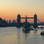 Spring sunrise view of Tower Bridge, London thumbnail