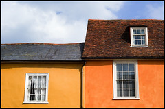 From High Street, Lavenham (Eline Lyng) Tags: lavenham suffolk sudbury england greatbritain houses rooftops architecture window color mediumformat leica s 007 leicas summarits70mm 70mm leicalens