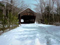 Albany Covered Bridge (Icanpaint1) Tags: kancamangushighway albanycoveredbridge swiftriver winterwonderland whitemountains winter newenglandwinter newhampshire wjtphotos