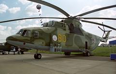 80 yellow - Moscow Zhukovsky (ZHU) 17.08.2001 (Jakob_DK) Tags: mi26 milmi26 mil milhelicopters halo mi26halo milmi26halo uubw zia moscowzhukovsky zhukovskyinternationalairport 2001 rff russianairforce 80yellow
