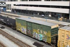 CNW 520022 (imartin92) Tags: emeryville california unionpacific railroad railway freight train chicagonorthwestern cnw boxcar