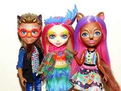 Can't seem to get where we're going (meike__1995) Tags: mattel dolls 2018 new enchantimals sancha squirrel peeki parrot hixby hedgehog