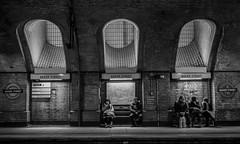Baker Street 2 (Nikonsnapper) Tags: olympus omd em1 zuiko 1240mm london underground bakerstreet bw