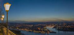 Koblenz an Rhein und Mosel (Michael P....) Tags: koblenz moselle mosel rhein rheinlandpfalz deutscheseck deck river fluss flus wasser nacht stadt dämmerung sonnenuntergang rhine