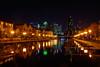 Isle of Dogs (Yannis_K) Tags: canarywharf isleofdogs e14 london reflections skyscraper cityscape nightlights citylights water docks bridge yannisk nikond7100 nikon24mmf18g houses waterfront